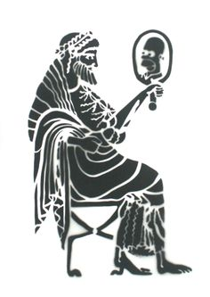 Roman Minin: Homer; 2014, pattern and acrylic on canvas, 50 x 70 cm