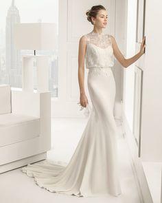 6 81106 SABRINA  (Vestido de Noiva). Estilista: Rosa Clará. ...