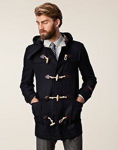 Patch Pocket Duffel - Morris - Navy - Jackets and coats - Clothing men - NELLY.COM UK (£369.00) - Svpply