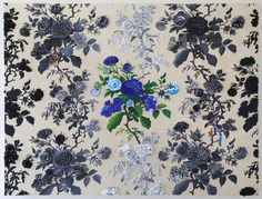 A work by Arjan van Arendonk entitled: Blue for You, silicone & embroidery on fabric, 100 x 130 cm For more please visit www.finearts.co.za