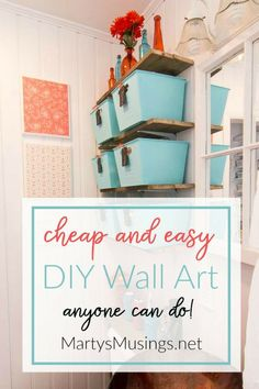 Easy Wall Art No money or time and believe you're not creative? This DIY Wall Art is so cheap and easy anyone can do it! Diy Art, Diy Wall Art, Diy Wall Decor, Funky Home Decor, Diy Home Decor Bedroom, Diy Home Decor On A Budget, Simple Wall Art, Easy Wall, Mod Podge Crafts