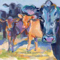 I Never Saw a Purple Cow, by Kimberly Kelly Santini (www.PaintingaDoga...)