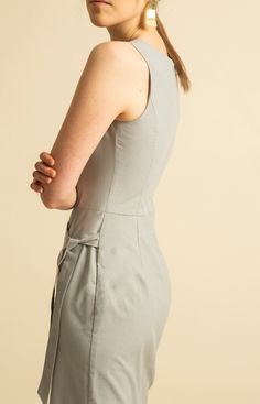 Made from 100 % recycled materials in Loksa, Estonia. Wrap Jumpsuit, Sustainable Fashion, High Neck Dress, Bodycon Dress, Grey, Collection, Dresses, Turtleneck Dress, Gray
