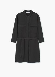 Платье-рубашка с ремешком | MANGO МАНГО