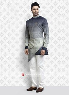 Awesome Blue and Green Shaded Pathani Suit Eid Outfits, Wedding Outfits, Pathani For Men, Suit Fashion, Mens Fashion, Mens Traditional Wear, Gents Kurta Design, Mens Ethnic Wear, Kurta Patterns