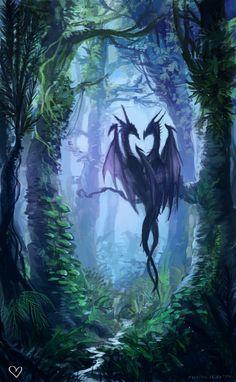 dailydragons:Valentine dragons by Matilda Geijer (tumblr | DeviantArt)