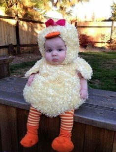 Hermoso disfraz de pollo para bebe