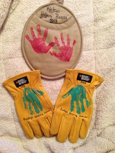 Handprints! Birthday presents for grandparents