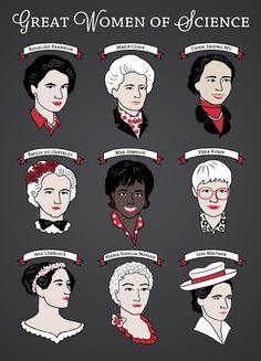 Great Women of Science {Set} Poster by geeksweetie - Science Shirts - Ideas of Science Shirts - Physical Science, Science Art, Science Room, Science Memes, Great Women, Amazing Women, Lise Meitner, Sibylla Merian, Women Rights