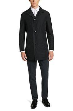 Mantel aus wasserabweisendem Obermaterial: 'Dais6', Schwarz