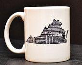 VIRGINIA Coffee Mug - Unique Art Tea Cup