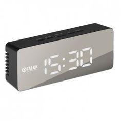 Cadeau d'entreprise high-tech - Horloge personnalisée miroir avec LED blanc San Francisco