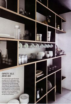 Open shelving - great for kitchen or pantry