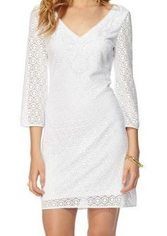 Lilly Pulitzer Alden Lace Tunic Dress. I'd go a bit longer for initiation, but this is along the lines of what I'm talking about.