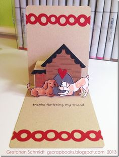 HI card with NEW House Pop `n Cuts Insert and matching Thinlits.