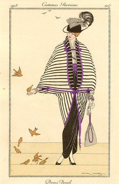 Victor L. Huer, Journal des Dames et des Modes, Demi-Deuil, 1913