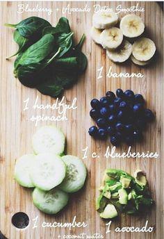 Fresh cut Beauty — Detox smoothie. Add coconut water & blend. Blend....
