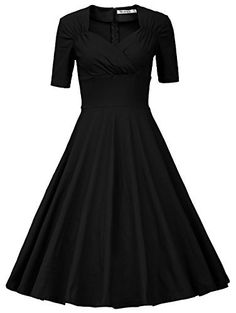 90 best wear to work dresses images dresses for work work clothes AK Anne Klein Sport Shoes 50s retro solid patchwork pleated swing dress dress robes ball gown dresses dance dresses