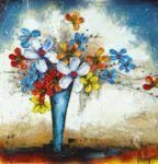 La dame en bleu  #Art #Fleurs #Artwork #Peinture #Painting #Quebec #Canada #VilleDeQuebec #GalerieDart #ArtGallery #HomeDecor Artgallery, Dame, Artwork, Symbols, Painting, Artist, Canada, Color, Midnight Blue