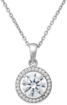 Fine Jewelry Womens Diamond Accent White Diamond Gold Over Silver Pendant Necklace PSbC87jV