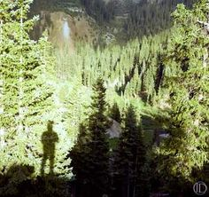 """This """"self-portrait"""" is among the photographs by John Denver in a one-week exhibition on display at Anderson Ranch."""