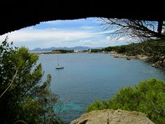 Sentier Littoral Tirepoil in Cap d'Antibes - French Riviera  France