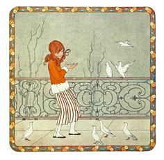 The Doves' Dinner-Time from Little Songs of Long Ago by Henriette Willebeek Le Mair.