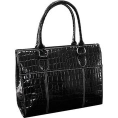 Buy the McKlein USA Francesca Ladies' Laptop Tote at eBags - Carry your essentials for work or professional travel inside this sleek laptop tote from McKlein USA Laptop Tote, Tote Bag, Lady, Stuff To Buy, Fashion, Moda, Notebook Bag, Fashion Styles, Carry Bag