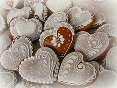 srdíčka Tea Cookies, Sugar Cookies, Christmas Drawing, Christmas Sweets, Wedding Cookies, Food Crafts, Sugar Art, Royal Icing, Yule