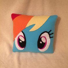 Rainbow Dash Pillow Plush My Little Pony Bedroom by CutesyKats