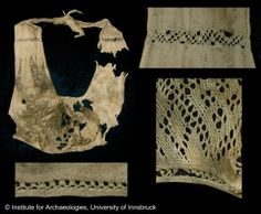 Extant 15th century undergarments  Lengberg_bra with sprang  From: http://medievalhistories.com/medieval-lingerie/