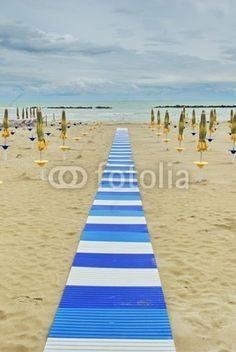 San Benedetto del Tronto, walk on the beach