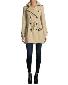 The Westminster - Mid-Length Classic Fit Heritage Trench Coat, Honey by Burberry at Neiman Marcus.