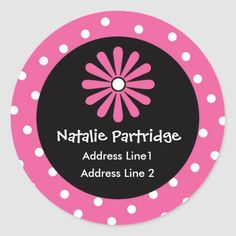 Whether you write them by hand or print them at home, check out our selection of Round Address Labels return address labels. Return Address Stickers, Return Address Labels, Custom Address Labels, Berry Wreath, Addressing Envelopes, Round Stickers, Pink White, Christmas Wreaths, Polka Dot