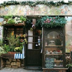 Cute shop!  Looks like it might be in France...