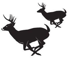 image result for running buck deer silhouette