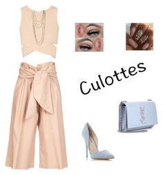 """""""Culottes"""" by yellowbrickrd ❤ liked on Polyvore featuring MSGM, Jonathan Simkhai, Steve Madden, Yves Saint Laurent, Chanel, TrickyTrend and culottes"""