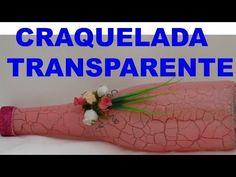 """Garrafa craquelada /cor rosa-chá transparente, """"Um Lusho"""" - YouTube"""