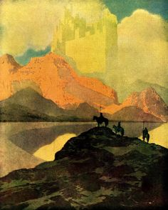 The City of Brass by Maxfield Parrish from Arabian Nights, 1909