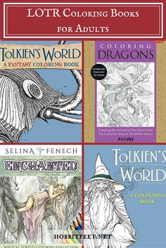 Fans of the J.R.R. Tolkien famous books and the movies based off of them will now be happy to know that there are some great LOTR (Lord of the Rings) coloring books for adults available, as well as other coloring books related to the same type of fantasy genre. Not only do these coloring pages provide hours of creative entertainment and relaxation, they can also serve as inspiration for fan fiction ideas as well as inspiring Cosplay costumes and accessories.