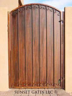 Metal Garden Gates, Garden Doors, Grid Architecture, Custom Gates, Security Door, Backyard Fences, Phoenix Arizona, Sunset, Welding