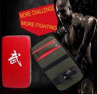 Bestwel Brand Canvas MMA Karate Muay Thai Kick Taekwondo Martial Arts Wall Punch Curve Pads Training Boxing Bag Sanda Red Black