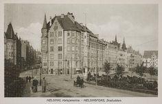 Korsningen av Hamngatan, Lotsgatan och Kronbergsgatan på Skatudden, vykort