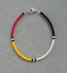 Jewelry Making Bracelets 4 Colors/Directions Beaded Bracelet ~ Native American Made ~ All Sizes~Free Ship Beaded Jewelry Patterns, Bracelet Patterns, Bracelet Designs, Ankle Bracelets, Silver Bracelets, Jewelry Bracelets, Jewelry Watches, Anklet Jewelry, Gemstone Bracelets
