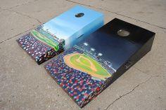 "Boston Red Sox Fenway Park ""Works"" Custom Cornhole Bag set."