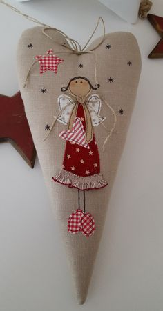 Feinerlei – 112 unique products from € on DaWanda - Fabric Crafts Christmas Makes, Felt Christmas, Handmade Christmas, Christmas Stockings, Xmas Ornaments, Christmas Decorations, Hand Embroidery, Machine Embroidery, Sewing Crafts