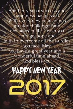 Happy New Year 2018 Quotes : QUOTATION – Image : Quotes Of the day – Description New year love quotes 2017 Sharing is Power – Don't forget to share this quote ! New Year Love Quotes, New Year Wishes Quotes, Quotes About New Year, Wish Quotes, Love Quotes For Her, Happy New Year 2016, Happy New Years Eve, Happy New Year Wishes, New Year Message