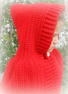 Little Red Riding Hood cape crocheted by raleyfamilysfarm on Etsy, $30.00