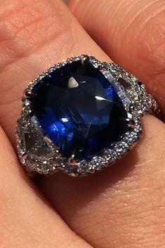 Blue Sapphire Rings, Diamond Rings, Diamond Jewelry, Jewelry Rings, Fine Jewelry, Geek Jewelry, Gothic Jewelry, Fashion Jewelry, Sapphire Jewelry