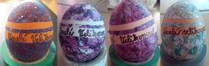 Velikonoční vajíčka  Easter eggs 1-Tempery 2,3,4-Lak na nehty - metoda s vodou v nádobě